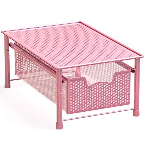 Simple Houseware Stackable Cabinet Basket Drawer Organizer, Pink