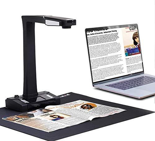 JOYUSING Escáner de Documentos Profesional HD de 18 MP con tecnología de aplanar y enderezar automáticamente, OCR en Varios Idiomas, convertir a Word, PDF, Tiff, Excel