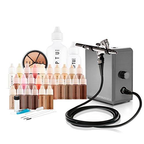 Temptu Pro Plus Deluxe Airbrush Kit: Airbrush Makeup Set for Professionals
