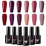 Makartt Red Gel Nail Polish Kit 10 ML 6 Bottles Perfect Goddess temperament