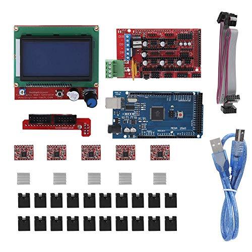 GzxLaY Stampante 3D Stampante 3D Scheda Madre RAMPS 1.4 Schermo/Circuito/Motore Passo-Passo/LCD per Ard-uino RepR