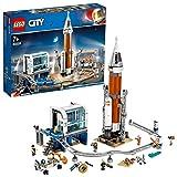 LEGO 60228 City CoheteEspacialdeLargaDistanciayCentrodeControl, Juguete de Construcción