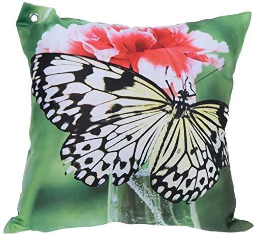 Trendkontor Gartenkissen 45 x 45 cm Außenkissen Dekokissen Outdoor Kissen 8 versch. Designs (Schmetterling 3)