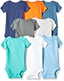 Carter's baby boys 8-pack Short-sleeve Bodysuits T Shirt, Multi/Turquoise, Preemie US