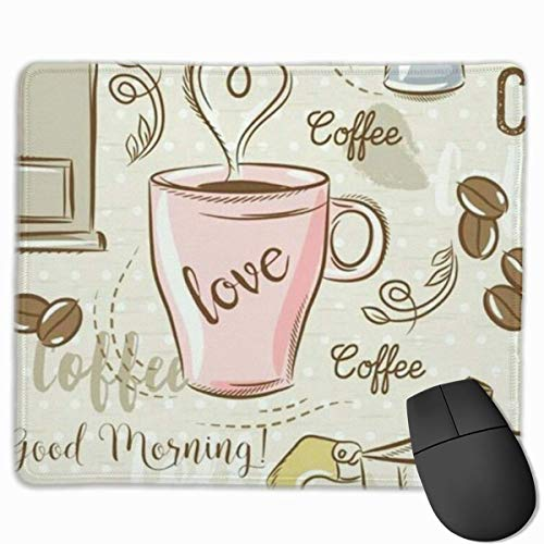 Glatte Mauspad, Kaffee Liebe Mobile Gaming Mousepad Arbeit Mauspad Office Pad