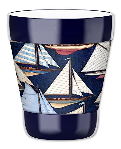 Mugzie vaso bebida taza con extraíble con aislamiento traje, barcos de vela, color, plástico, Multicolor, 12 ounce