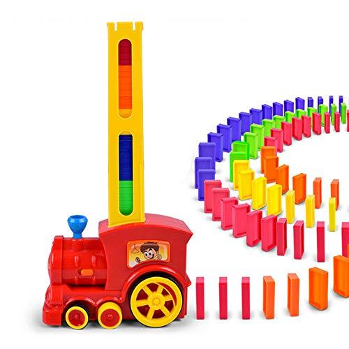Tren eléctrico Domino de Inteligencia para niños, tren eléctrico con acedrez péndulo automático, Dominoes Rally tren eléctrico de juego de tren de juego