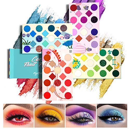 commercial EYESEEK Eyeshadow Palette 64 Colors Professional Pigment Makeup Palette Colorful Rainbow… matte eyeshadow palette