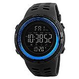 Montre Digitale Sports Homme Etanche 50 M avec LED en Forme de 12 ou 24h avec Alarme...