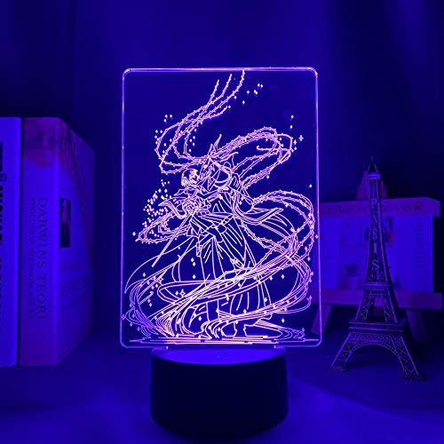 Figura 3D ilusión de luz LED en 3D para decoración de habitaciones, luz nocturna, regalo de cumpleaños, decoración de anime, corona de fiesta, bar, atmosférica