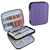 Teamoy Organizer Case for Interchangeable Circular Knitting Needles, Crochet Hooks and Knitting Accessories, Keep All in One Place and Easy to Carry, Purple (No Accessories Included)