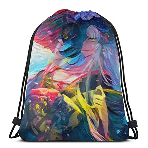QiangQ Bolso con cordón Drawstring Bags Sport Gym Sack Party Favor Bags Wrapping Gift Bag Drawstring Backpack Storage Goodie Bags Cinch Bag - Dragon Witch Jeanne D'Arc