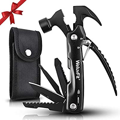 Mens Gifts for Dad from Daughter Son, Unique Valentines Birthday Gift Ideas for Boyfriends Father Uncle Grandpa, Cool Funny Husband Gifts for Men, Hammer Multitools Camping Gear Survival Tool for Men