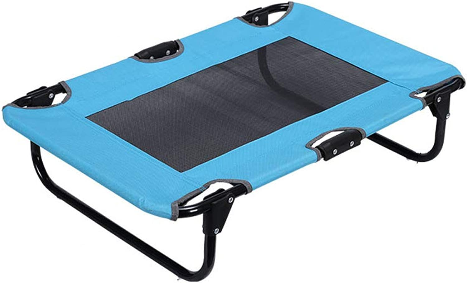 Fold Dog Bed, Four Seasons Go Out Pet Nest Load 50kg Tourism Sofa Easy to Carry Car Dog Mattress (color   bluee)