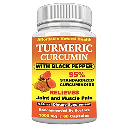 Turmeric Curcumin with Black Pepper for Faster Absorption - Extra Strength Joint Pain Relief - Anti-INFLAMMATORY ANTIOXIDENT Supplement - All Natural - Non-GMO - 60 Capsules