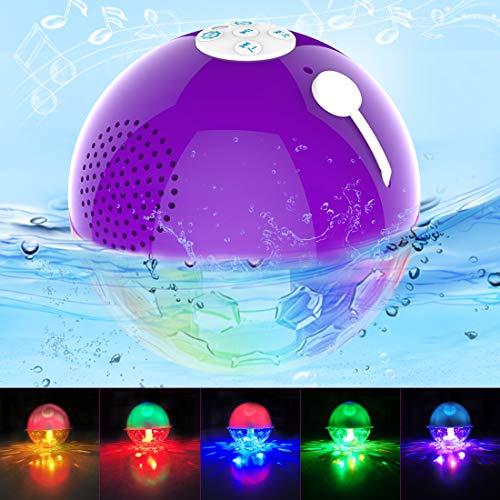 avis enceintes portables professionnel Enceinte Bluetooth portable avec éclairage LED, enceinte de piscine étanche IPX7, stéréo…