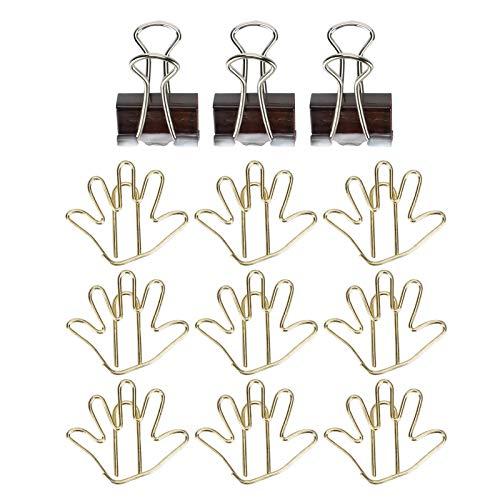 Pappersklämmor, söta fina metallbindningsklämmor, utsökt attraktivt enkelt för affischer Kuvert Dokument Reklamblad(Golden palm)