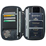 NeatPack Rfid Travel Wallet, Document Organizer & Passport Holder, Black