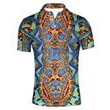ORGYPET Cool Men Polos Shirts T-Shirt Leisure Summer Short Sleeve Shirt Cool Electronic Components Print X-Large Size