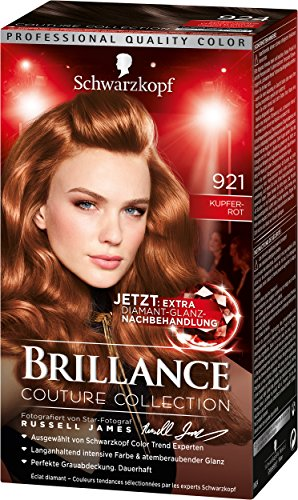 Brillance Intensiv-Color-Creme 921 Kupferrot Stufe 3, 3er Pack (3 x 143 ml)