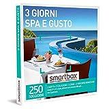 Smartbox - 3 Giorni Spa E Gusto - Cofanetto Regalo Coppia, 2 Notti con Colazione, 1 Cena e 1 percorso Benessere per 2 Persone, Idee Regalo Originale