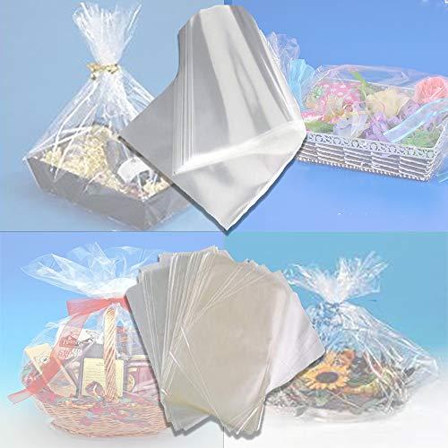 palucart Fogli cellophane Trasparente per Confezioni 100 x 130 Carta cesti Trasparente (25)