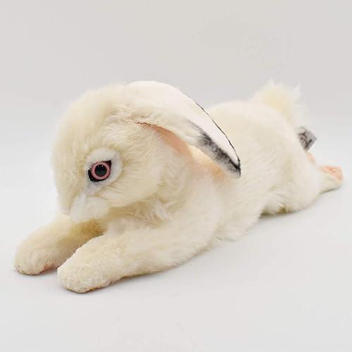 garantizado Hansa blanco blanco blanco Lying Rabbit Plush Soft Toy by 40cm. 6523  con 60% de descuento
