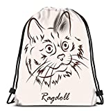 Sacs Bapa avec Cordon de Serrage Cat Breed Ragdoll Femmes & Hommes Sport Gym Sa
