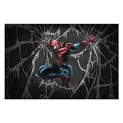 Wooden Jigsaw Puzzles Adults, Spiderman (57), Challenge and Fun, for Teens Kids, 500 pcs