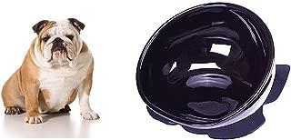 Fly Joys French Bulldog Ceramics Single Food Bowl Dual Purpose Slanted Dog Food Bowl Double Non-Slip Design