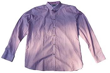Ted Baker London Men s Long-Sleeve Flower Print Button Up Shirt 6 85-Orange