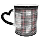 Taza de café de cerámica personalizada abstracta sin costuras con patrón de cuadros escoceses Glen Check - Es un regalo perfecto/presente