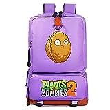 Anime Plants vs. Zombies Mochila escolar de 17 pulgadas, bolsa de viaje, bolsa de ordenador, el mejor regalo para los amantes de los juegos (Zombies 4,31 x 14 x 45 cm)