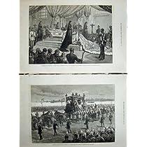 皇后のロシア葬儀のピーターズバーグの 1880 のカテドラルピーター