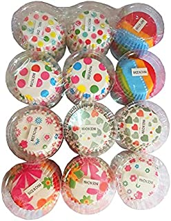 1200 Pieces Box Cupcake Mould Wrappers Heat Resistant Oil-proof Round Thicken Paper Cups Muffin Liners, Cup Cake Cases, Bi...