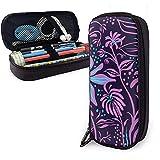 Rêve Fleur PU En Cuir Pochette Sacs De Rangement Portable Étudiant Crayon Bureau Papeterie Sac Multi-Fonction Sac