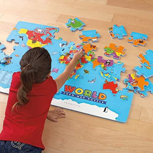 エデュケーショナルインサイツ(EducationalInsights)世界地図スポンジパズル