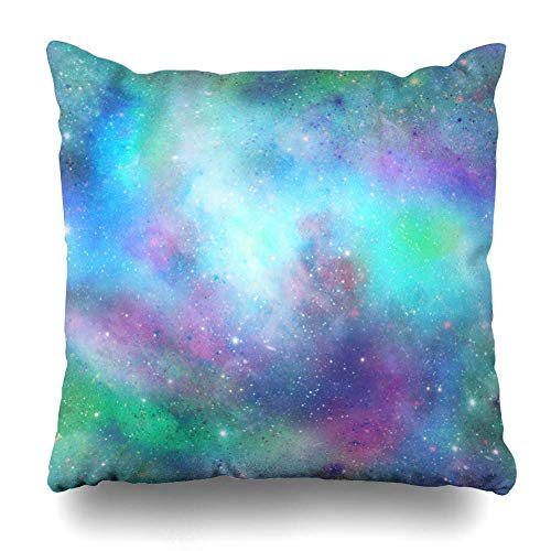 XCNGG Kissenbezug Throw Pillows Covers Pink Mermaid Blue Green Outer Space Galaxy Purple Sky Abstract Home Decor Pillowcase Square Size 16 X...