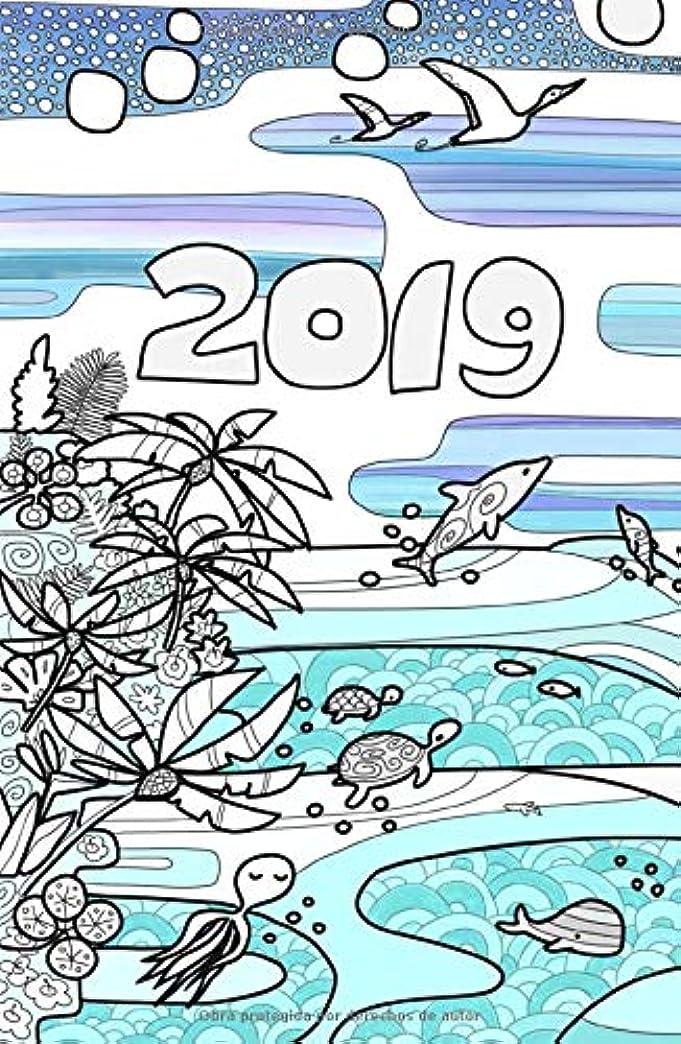 努力染色地平線Palmanaque 2019 Océano