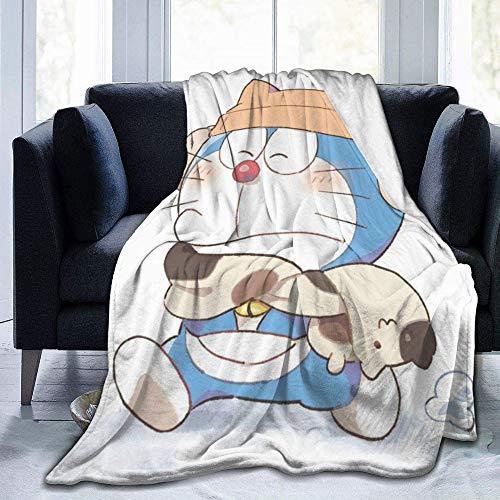 HYKCSS Doraemon Nobita Cartoon Coral Fleece Franela Sábanas Suaves Y Cómodas Manta para Niños Regalos para Adultos Habitación con Aire Acondicionado Sofá Calor Mantener Ligero Four Seasons