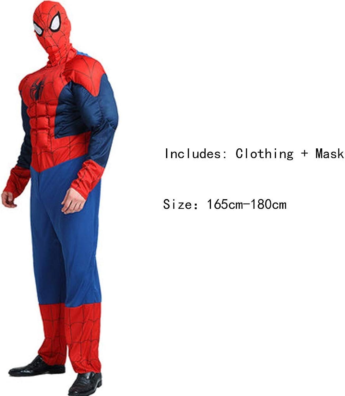 HYYSH Halloween Film Cartoon Anime Dress Up Cosplay Auergewhnlicher Held Gedruckt Avengers Held Cosplay Kostüm (Spiderman)