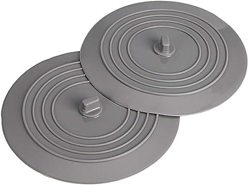 BTSKY Lot de 2Bouchons de vidange universels en caoutchouc siliconé, 15,2 cm, pour évier de cuisine, lavabo de salle...