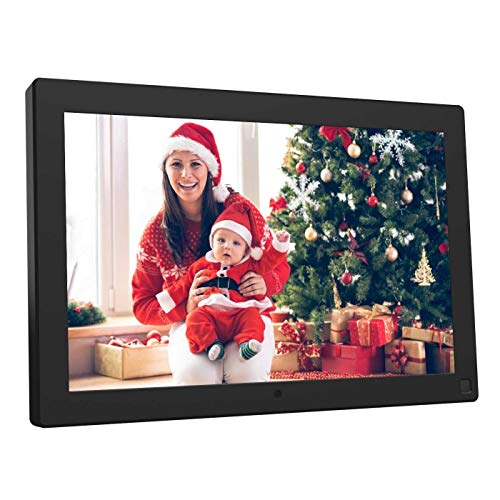 BSIMB Digital Photo Frame 10.1 Inch Digital Picture Frame 1280x800 IPS Screen Electronic Photo Frame with Motion Sensor/Auto Rotate/Music&Video Playback/Remote Control M10