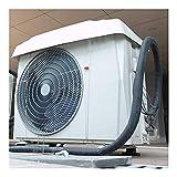 GAXQFEI Cubiertas de Aire Acondicionado para Ventana, Toldo de Pvc, Anti-Uv Impermeable Que Elimina la Suciedad, Incluidos 2 Cables de Acero Adecuados para la Unidad de Aire Acondicionado en el Exter