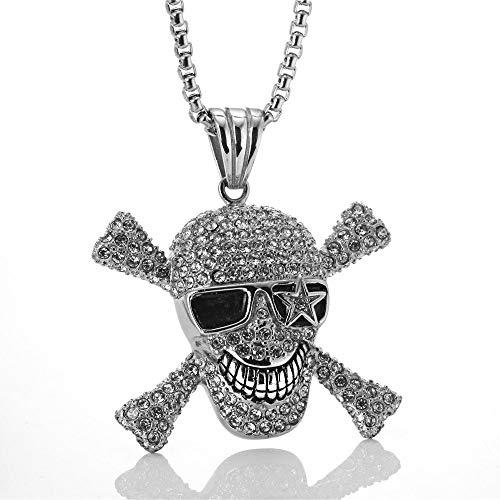 ZHBSS Europa y los Estados Unidos Titanio Acero Pirata Barco cráneo Colgante...