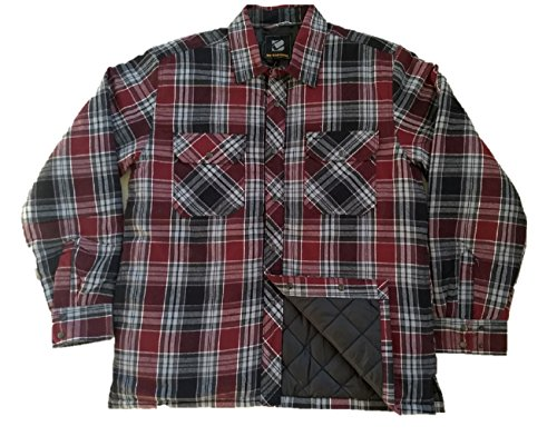 Swiss Alps Mens Quilted Flannel Lined Duck Active Heavyweight Canvas Work Jacket, Chestnut Brown, L