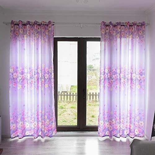 XdiseD9Xsmao raamgordijn, schattig, robuust en licht, zacht, balkon, wasbaar en vervormingsvrij, voor woonkamer, slaapkamer, 39,4 x 106 inch Licht paars