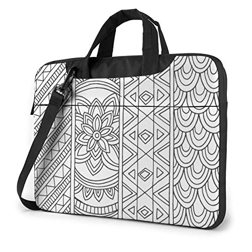 Black And White Wallpaper Laptop Sleeve 14 Inch Stylish Cute Neoprene Notebook Handbag