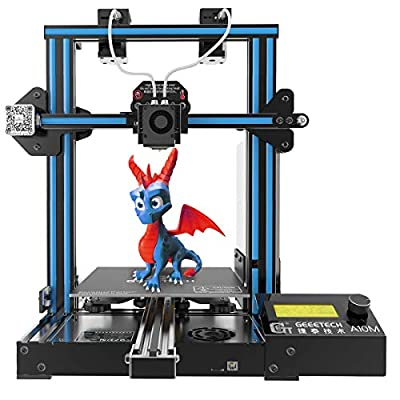 GIANTARM-GEEETECH A10M Mix-Color 3D Printer with Dual Extruder, Easy Assembly 3D Printer with Resume Printing, Filament Detector and Build Volume as 220x220x260mm³