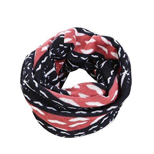 Koly_stampa calda sciarpa lunga collo ad anello in maglia donne degli uomini inverno (B)